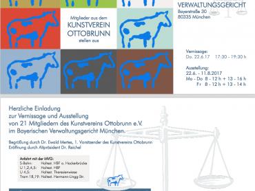Vernissage und Ausstellung von 21 Mitgliedern des Kunstvereins Ottobrunn e.V. im Bayerischen Verwaltungsgericht München